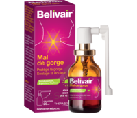 Belivair Collutoire Mal De Gorge 20ml à SEYNOD