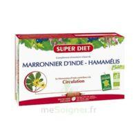 Superdiet Marronnier d'Inde Hamamélis Bio Solution buvable 20 Ampoules/15ml à SEYNOD